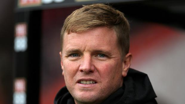 Eddie Howe feels Bournemouth are in danger of going down (Mark Kerton/PA)