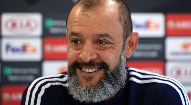 Wolves manager Nuno Espirito Santo insisted he never thinks about being in the top four (Mike Egerton/PA)