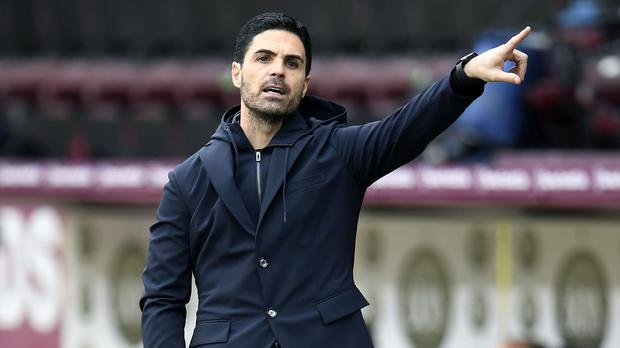 Mikel Arteta insisted his side are making progress despite inconsistent results (Peter Powell/PA)