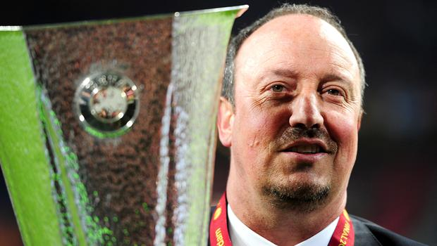 Newcastle manager Rafael Benitez won the 2013 Europa League when he was Chelsea interim boss