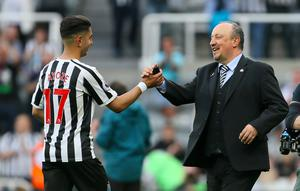 Perez follows Rafael Benitez, right, out of Newcastle (Richard Sellers/PA)
