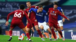 The Merseyside derby set a new record for viewing figures on Sky Sports (Jon Super/NMC Pool)