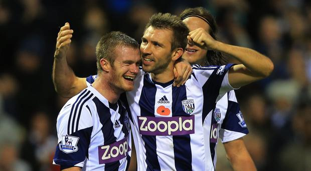 Chris Brunt played with Gareth McAuley for West Brom