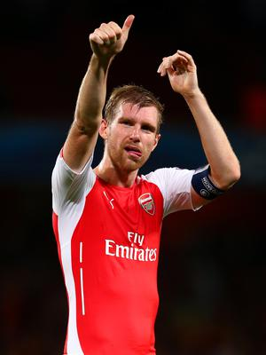 Big opportunity: Per Mertesacker believes Arsenal have the chance to prove they can still challenge for the title this season