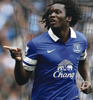 In form: Romelu Lukaku has hit eight goals so far for Everton after being loaned from parent club Chelsea at the start of the season