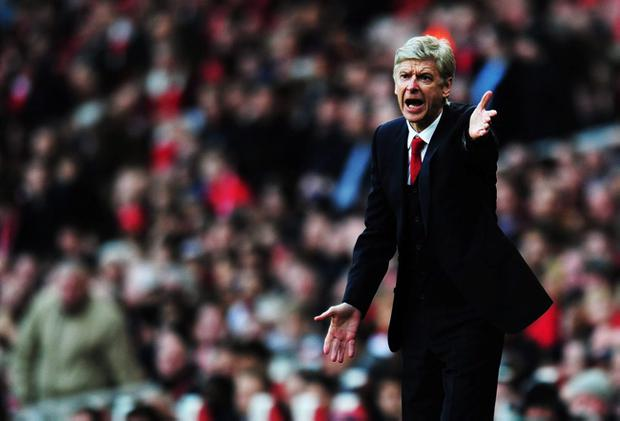 Arsene Wenger pictured during Arsenal's 2-1 win over Liverpool in the FA Cup