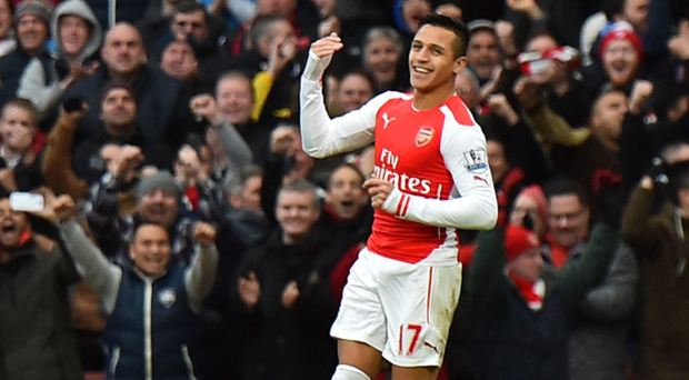 Red-hot form: Alexis Sanchez has shone for Arsenal since joining from Barca in the summer