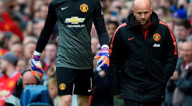On the way? David de Gea may have played his last game for Man United after going off injured against Arsenal