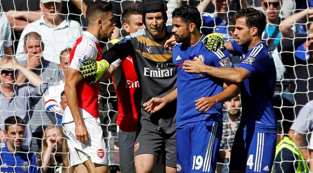 Gabriel and Diego Costa clash last Saturday