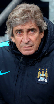 Open race: Manuel Pellegrini believes there are up to seven teams in the running for the Premier League title