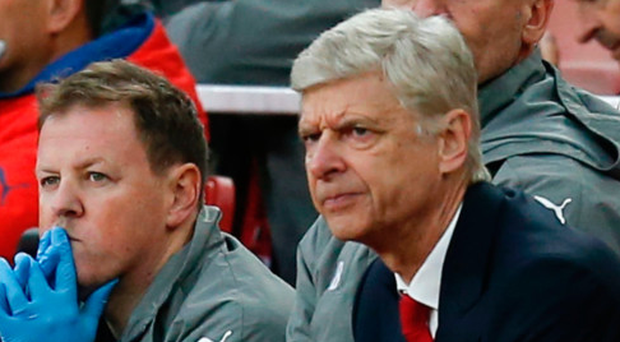 Blank expression: Arsene Wenger looks on as Arsenal fail to find the net against Middlesbrough