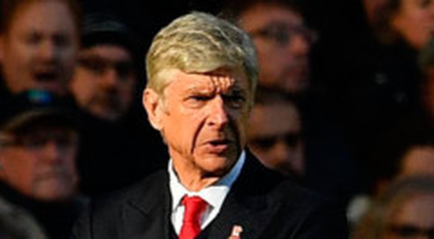 Unhappy: Arsene Wenger questioned the referee's calls