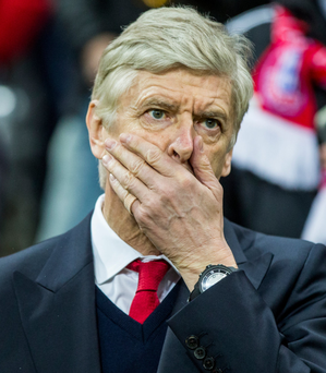 Oh no: Arsene Wenger said the third Bayern goal was a killer