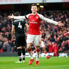 Key victory: Laurent Koscielny was pleased with the win