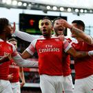 Golden touch: Pierre-Emerick Aubameyang has been clinical