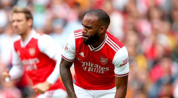 Sprain setback: Injury forced Alexandre Lacazette off early