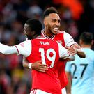 Late show: Pierre-Emerick Aubameyang and Nicolas Pepe