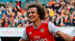 Happy days: David Luiz