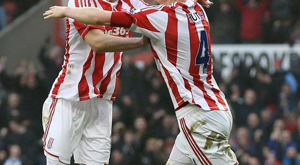 Robert Huth, right, gave Stoke the lead against Reading