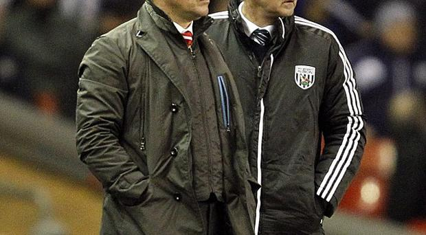 Manager Steve Clarke, right, was pleased with the aggression showed by his West Brom side