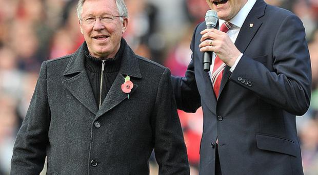 David Gill, right, will leave his post as chief executive in the summer