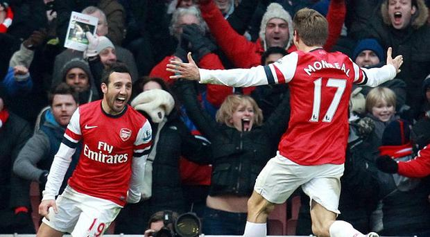Santi Cazorla, left, scored twice against Aston Villa last week