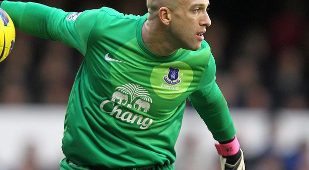 Tim Howard fractured two bones in his back during Everton's FA Cup fifth-round replay against Oldham