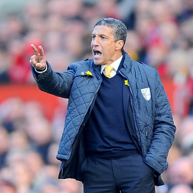 Chris Hughton's Norwich could only manage a third draw in five games on Saturday