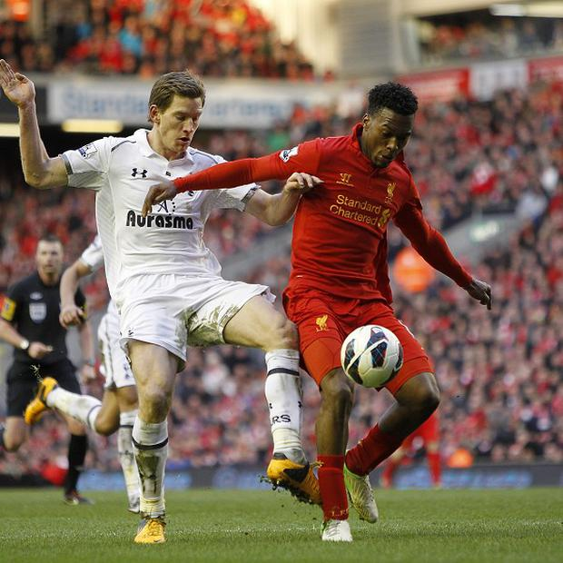 Daniel Sturridge, right, made his return from injury against Tottenham