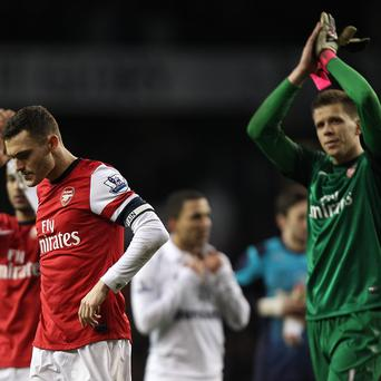 Thomas Vermaelen, left, and Wojciech Szczesny missed the win over Bayern Munich