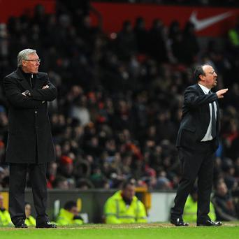 Sir Alex Ferguson, left, insists he did not refuse to shake the hand of Rafael Benitez, right