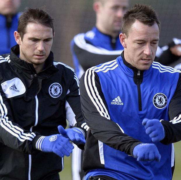 Frank Lampard, left, has been hailed by long-standing team-mate John Terry