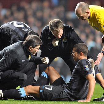 Jack Rodwell, bottom, has been dogged by injury problems since joining Manchester City last summer