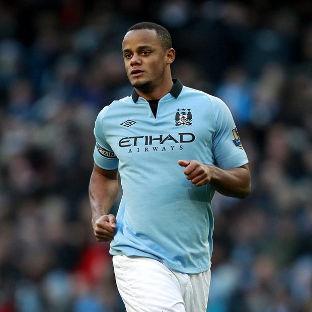 Vincent Kompany made his first competitive appearance in eight weeks when he featured for Belgium