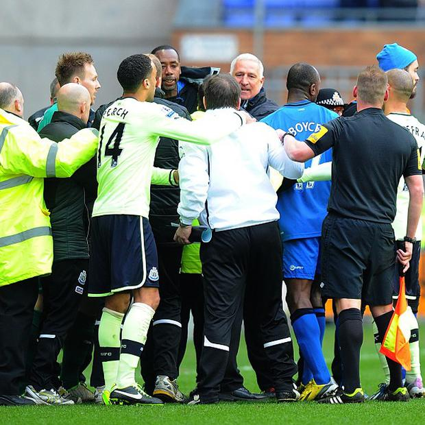 Tempers flared at the DW Stadium