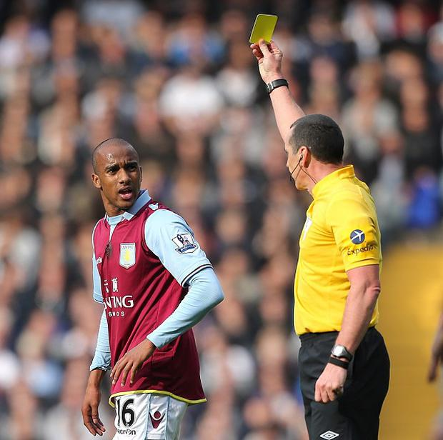 Fabian Delph, left, has collected 10 bookings already this season