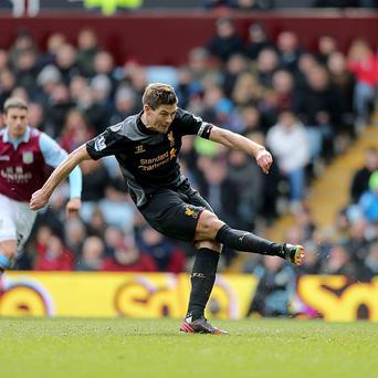 Steven Gerrard's penalty sealed victory for Liverpool