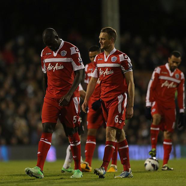 Christopher Samba, left, endured a torrid time against Fulham