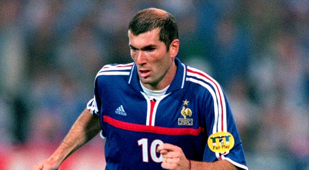 Zinedine Zidane, three times FIFA World Player of the Year