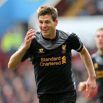 Steven Gerrard has played every minute of every Premier League game for Liverpool this term