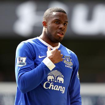 Victor Anichebe, pictured, relishes playing for Everton boss David Moyes