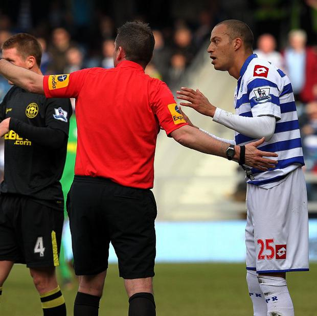 Bobby Zamora, right, misses QPR's next three games after being sent off against Wigan