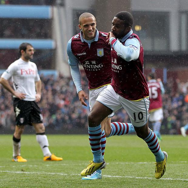 Charles N'Zogbia, right, opened the scoring for Aston Villa before they were held to a draw