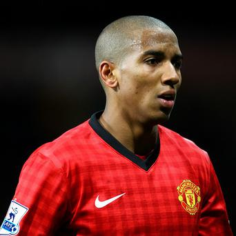 Ashley Young injured his ankle in the derby clash with Manchester City