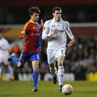 Gareth Bale, right, has been out of action since the Basle tie 15 days ago