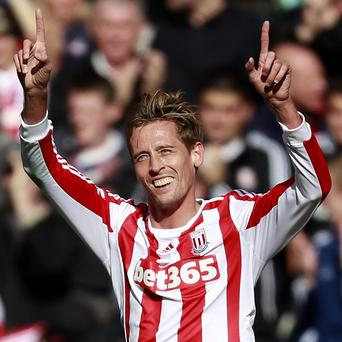 Peter Crouch, pictured, and Jon Walters were on target at QPR