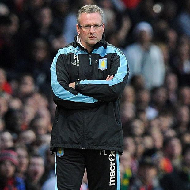 Paul Lambert took heart from Aston Villa's performance in their loss at Old Trafford
