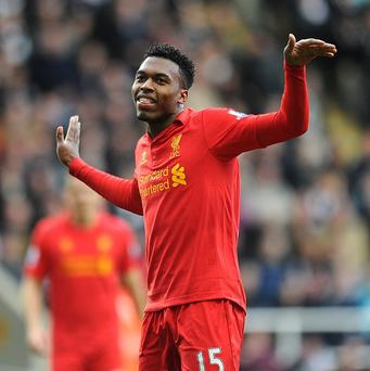 Daniel Sturridge, pictured, and Jordan Henderson netted a brace each at Newcastle