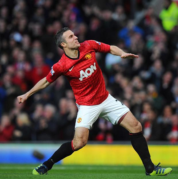 Robin van Persie has scored 24 league goals this season to help fire Manchester United to a 20th crown