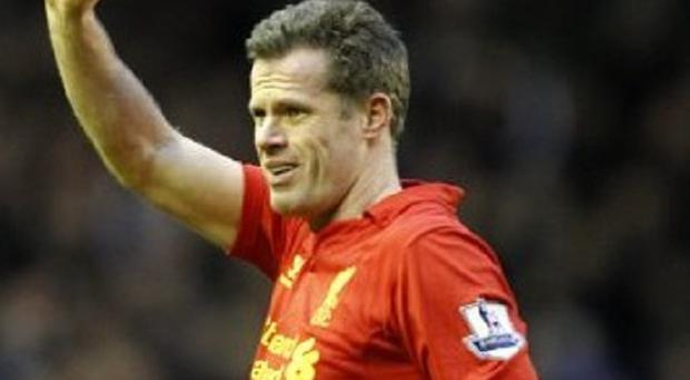 Jamie Carragher has just two games to play before he hangs up his boots